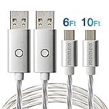 Micro USB Kabel, momen 3.0A USB Ladekabel 2M/6Ft...