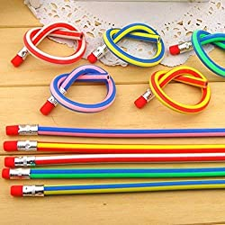 (30) - AHG 30pcs Soft Flexible Bendy Pencils Magic Bend Kids Children School Fun Equipment