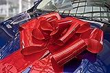 Kenley Riesige Große Rote Schleife 42 cm für Auto Fahrrad Geburtstag Geschenk Hochzeit und Weihnachten - Magnetische Autoschleife mit 99 cm Bänder - Hält mit Magneten und Saugnapf