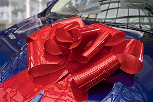 Kenley Riesige Große Rote Schleife 76 cm für Auto Fahrrad Geburtstag Geschenk Hochzeit und Weihnachten - Magnetische Autoschleife mit 185 cm Bänder - Hält mit Magneten und Saugnapf