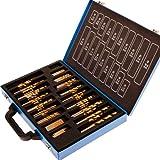 Timbertech - Coffret de mèches spirales - set de 200 - avec mallette en métal - adapté pour bois, plastique, tôles, plaques d'acier