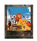 Lampe aus Holz der König Löwe