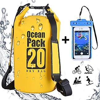 51wm6 SlybL. SS324  - DINOKA 20L/30L Bolsa Seca Impermeable, Bolsas estancas con Caja de teléfono Impermeable Gratis,Dry Bag wateroof para Rafting, Kayak navegación Senderismo, esquí, Buceo, Pesca, Escalada, Camping