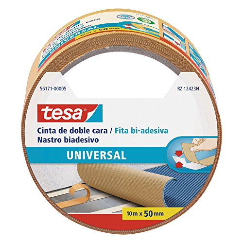 Tesa 56171-00005-02 Cinta de doble cara universal, 10 m x 50 mm