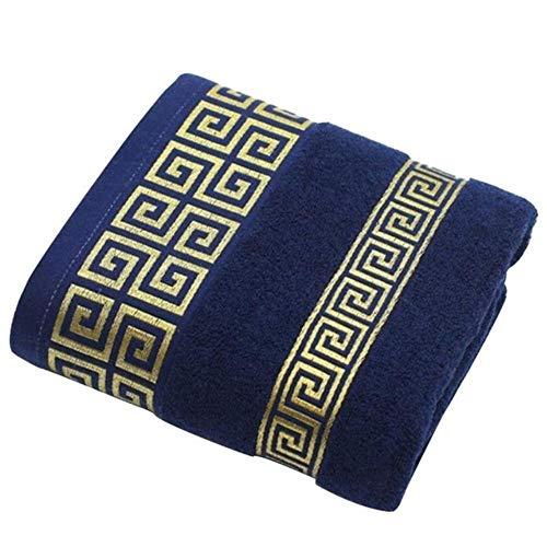 HUILIN 3 stücke 100% Baumwolle weiche Bad bestickte handtücher Sets Bambus Strand badetücher Erwachsene Elite Marke hohe qualität Gesicht handtücher, blau - Handtuch-set Monogrammiert