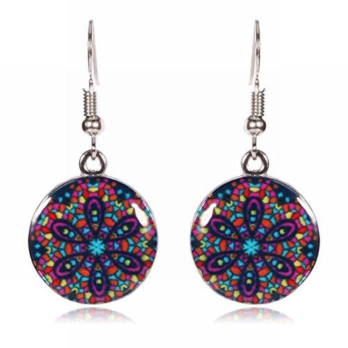 MEEOI Modeübertreibung-Ohrstecker Ohrringe 925 Sterling Silber für Damen, Styling-Blumen, fünfzackiger Stern, Pecan-Muster, E-Ohrringe -