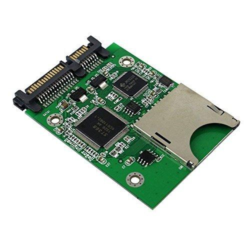 qnine SD Karte zu SATA Adapter, SDHC SDXC MMC Memory Card Konverter als HDD SSD Solid State Festplatte