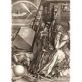 Albrecht Dürer - Melencolia I, La Melancolía, 1514, Sepia, 2 Partes Póster Fotomural (250 x 180cm)