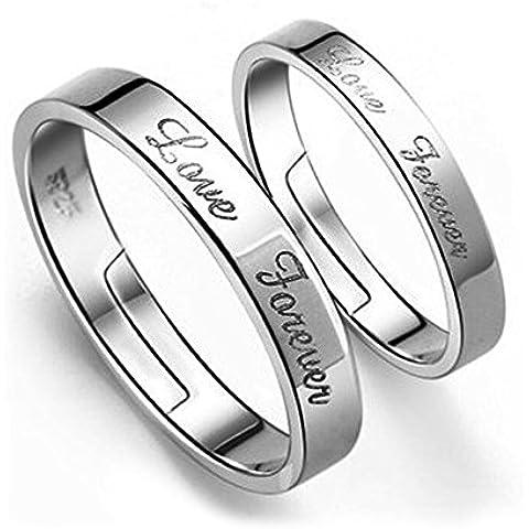 acxico Love Forever Scultura anelli di coppia (Uomo e Donna)
