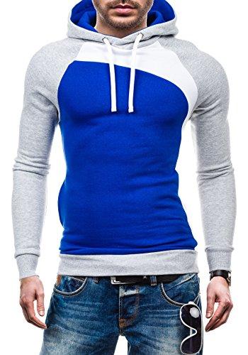 BOLF – Sweat-shirt con cappuccio – Maglione sportivo - STX JACK – Uomo Cobalt