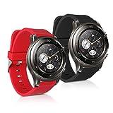 kwmobile Huawei Watch 2 / Samsung Gear S2 Classic Cinturino in Silicone - 2X Fascetta con Fibbia ca....