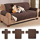 KITCHY Waterproof Anti-Slip Couch Recliner 1/2/3 Seater Quilted Sofa Covers for Dogs Pets