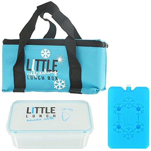 Promobo - Lunch Bag Panier Repas Isotherme Box Fraicheur avec Pain de Glace Bleu