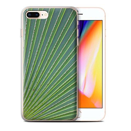 Stuff4 Gel TPU Hülle / Case für Apple iPhone 8 Plus / Wellenförmig Muster / Pflanzen/Blätter Kollektion Wellenförmig