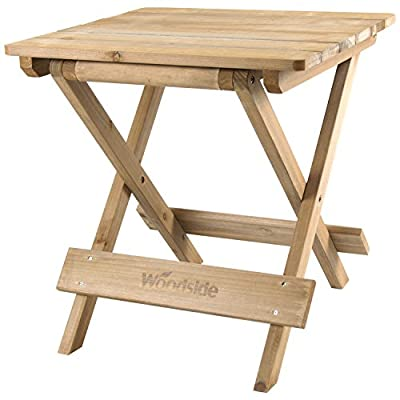 Woodside Folding Coffee Side Snack Table Wooden Garden Patio Furniture - inexpensive UK light store.