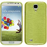 PhoneNatic Case für Samsung Galaxy S4 Hülle Silikon pastellgrün brushed Cover Galaxy S4 Tasche Case