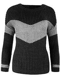 385638190c2d Diva-Jeans P088 Damen Pullover Winter Pullover Pulli Sweatshirt Strick  Strickpullover Bluse