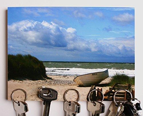 """Magnet Schlüsselbrett POK """"Strandboot"""" 5 Magnete, 15x20cm"""