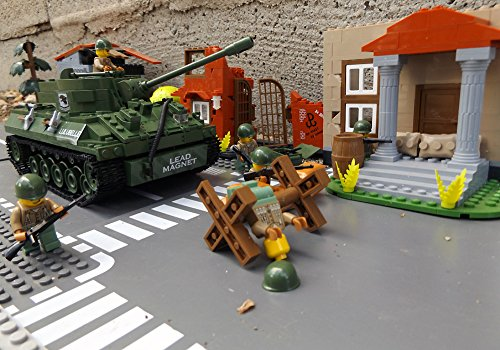 ★ World of Tanks 3006 - Bausteine US ARMY Panzer, 465 Teile, leichter Jagdpanzer M18 Hellcat, inkl. custom US ARMY Soldaten aus original Lego© Teilen ★ thumbnail