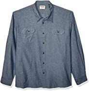 Wrangler mens Long-Sleeve Classic Woven Shirt Button Down Shirt