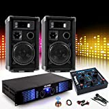 PA Party Musikanlage Boxen 2400W Verstärker Endstufe USB MP3 Mischpult DJ-631
