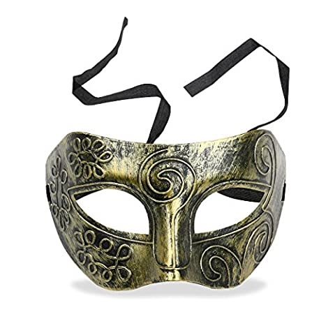 Tinksky Mens Masquerade Masks Face Mask Venetian Masks for Fancy Dress Ball / Masked Ball / Halloween (Golden)