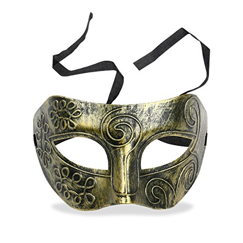 Cool Adult Men Greek Roman Fighter Masquerade Face Mask for Fancy Dress Ball /Masked Ball /Halloween (Griechische Dress Fancy)