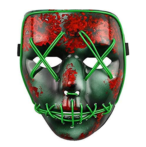 Zfggd Light Up Maske Festival Halloween Kostüm Erwachsene ()