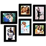 Paper Plane Design Enchanting Moments Gallery Wall Set of 6 Individual Wall Photo Frames (Black)