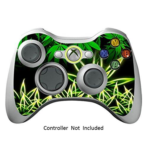 GameXcel ®  Xbox 360 Controller Skin - Schutz Vinyl-Aufkleber für X360 nehmen drahtlose Game-Controller - X3 Controller Abziehbild - Weeds Black [Controller nicht enthalten] Metal Gear Solid 4 Für Xbox 360