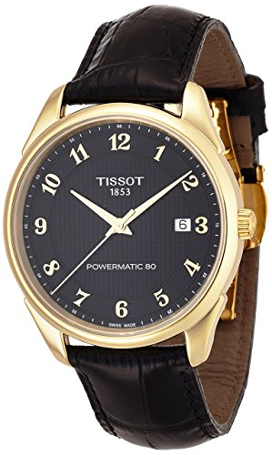 Tissot–Herrenuhr Tissot Vintage Powermatic I–Luxus 80t9204071605200Armband Leder schwarz–t9204071605200 (Tissot Uhren Männer Luxus)