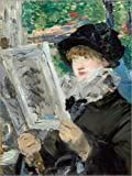 Posterlounge Alu Dibond 100 x 130 cm: Lesende Frau von Edouard Manet