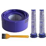 Set di ricambio 2 pezzi pre-filtro + 1 filtro HEPA + 1 spazzola di pulizia compatibile con aspirapolvere a batteria Dyson V7 V8.
