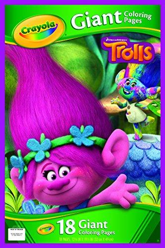 Crayola-Libro da colorare gigante 04-6922-0-000 Trolls pagine