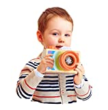 Lalang Orange Niedliche Baby Kinder Holz Kamera Spielzeug Kindermode Bekleidung Accessory Zubehör,Als beste Geburtstagsgeschenk für Baby