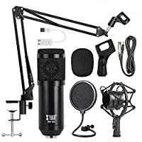 BM800 Professional Broadcasting Studio Recording Condenser Microphone Mic Kit with Sound card