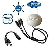 Sunba Outdoor Aluminium CCTV Mikrofone für IP Kameras mit RCA Interface- Keine Schrauben