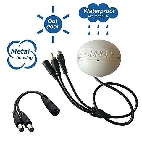 Sunba CCTV,exterieur impermeable, Mini Microphone espion integré pour une sécurité reseau IP avec une caméra d ́interface audio RCA - Pas de