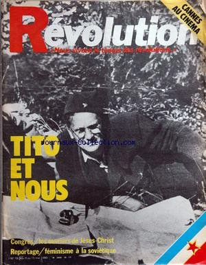 Cinema Au Feminisme - REVOLUTION [No 10] du 09/05/1980 - tito