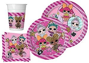 Ciao Y4958 - Kit de mesa para fiestas, color rosa