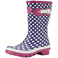 Lunar Womens Dotty Ankle Wellington