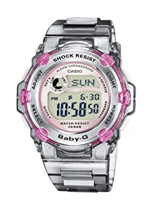 Reloj de caballero CASIO BABY-G BG-3000-8ER de cuarzo, correa de resina color marrón de Casio