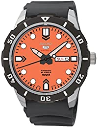 Seiko Herren-Armbanduhr 5 Analog Automatik Kautschuk SRP675K1