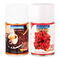 Airance Room Freshner Spray Automatic Room Freshener Refill Coffee & Litchi - 250 ML- Fit All Machines Using 250 ML / 300 ML Bottles