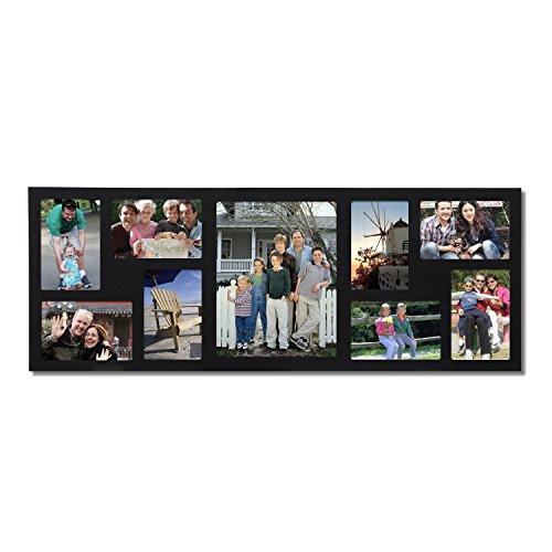 Adeco 9-opening schwarz Holz Wand Bilderrahmen zum Aufhängen, 4von 15,2cm