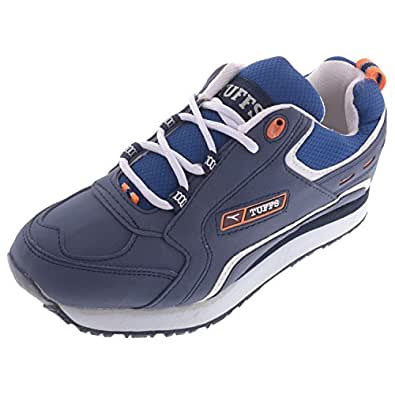 Tuffs Mens PU-41-BLU-WHT Blue White Synthetic Jogging Shoes