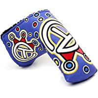 SaySure - Golf Putter Cover Headcover for Blade Golf Putter - Navy Stick Flag