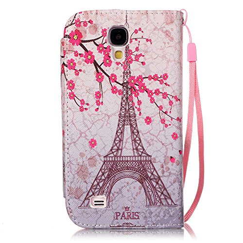 nancen Apple iPhone 4/4S (3,5 pollici) Custodia Custodia in pelle PU Bookstyle Case Smartphone Cover a Libro, nove stile premium versione migliorata chiusura magnetica [lunga chiusura] – Cover di prot paris