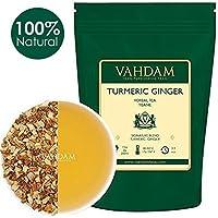 Té Tisano Cúrcuma Jengibre (100 Tazas), Té Detox Indio, abundante en antioxidantes y fitonutrientes - Curación, rejuvenecedor y energizante, cultivado y embalado en la India, 200g