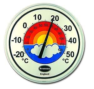 300mm Patio Blanc Cadran Thermomètre